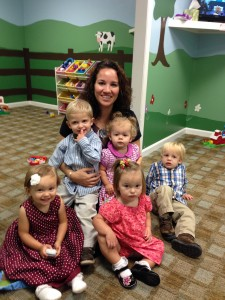 """Nursery Mom"", Samantha Campbell, loves leading our nursery ministry."